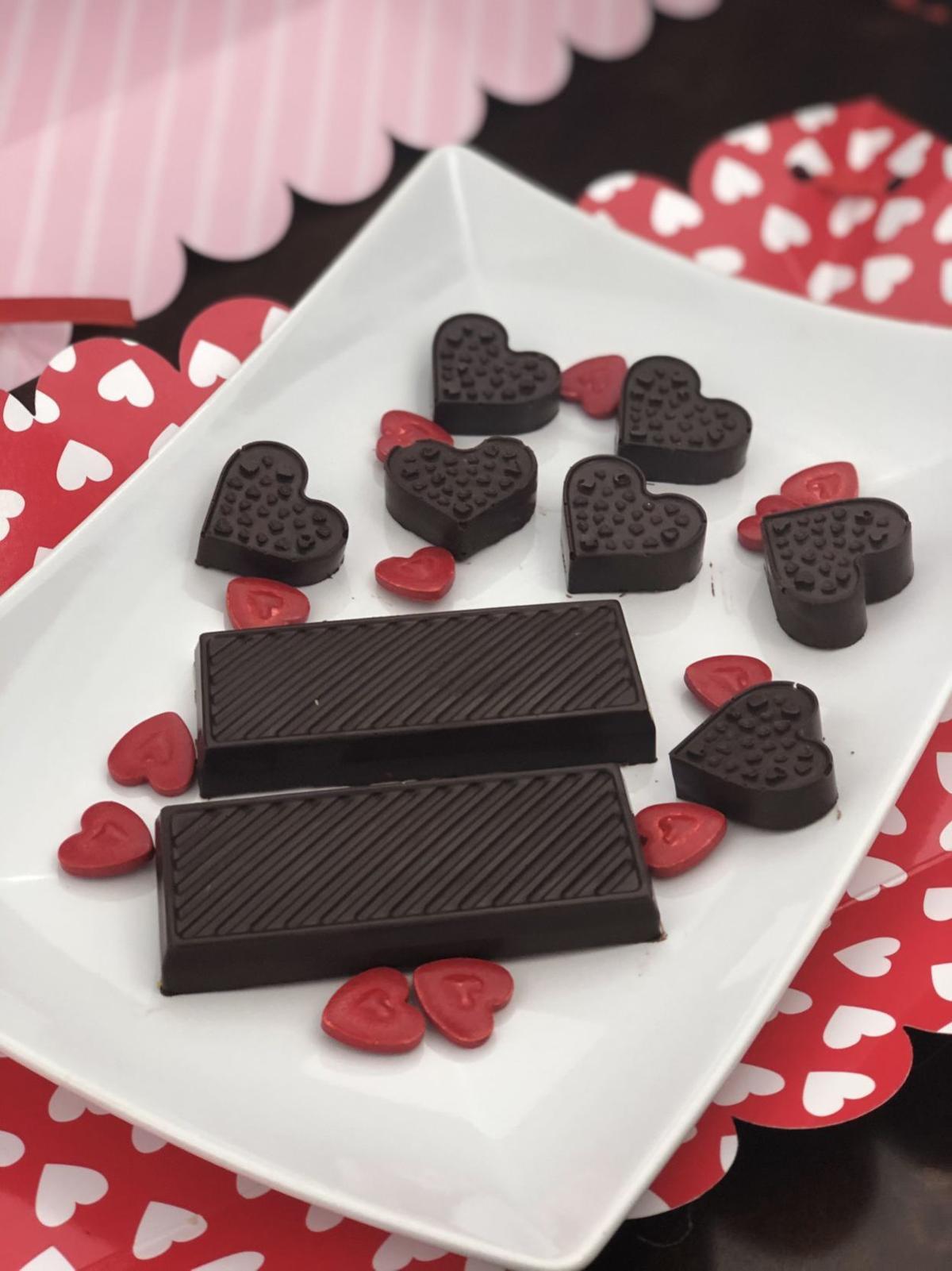Happy Chocolate Hearts