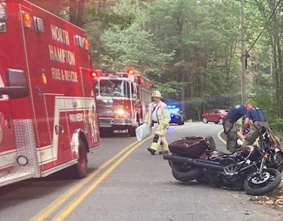 North Hampton motorcycle crash