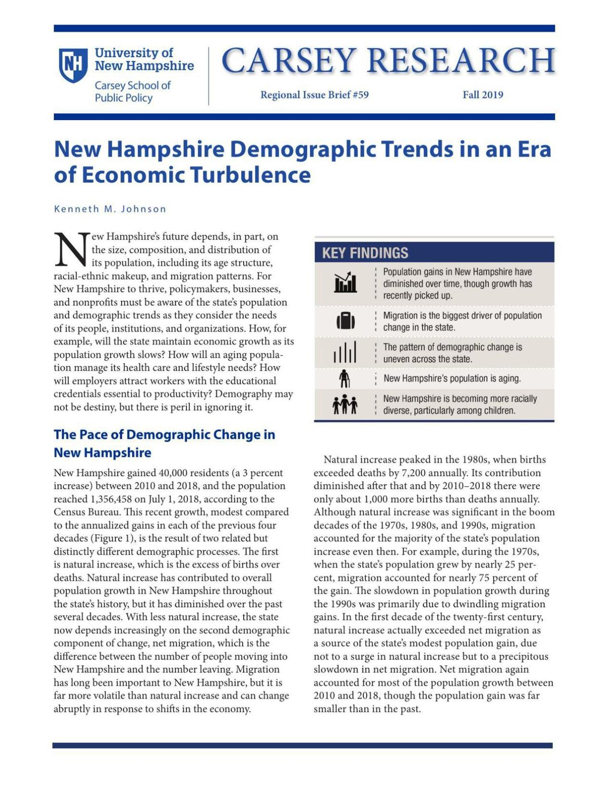 NH Demographic Trends