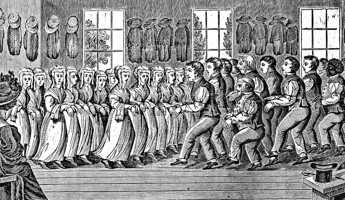 Shaker worship meeting