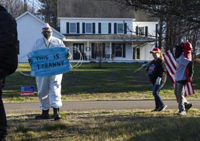 People protest NH's mask mandate