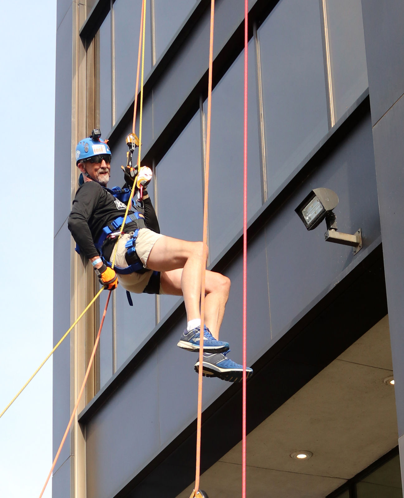 Over the Edge 2021 fundraiser in Manchester