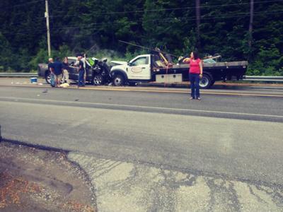 Canterbury crash scene
