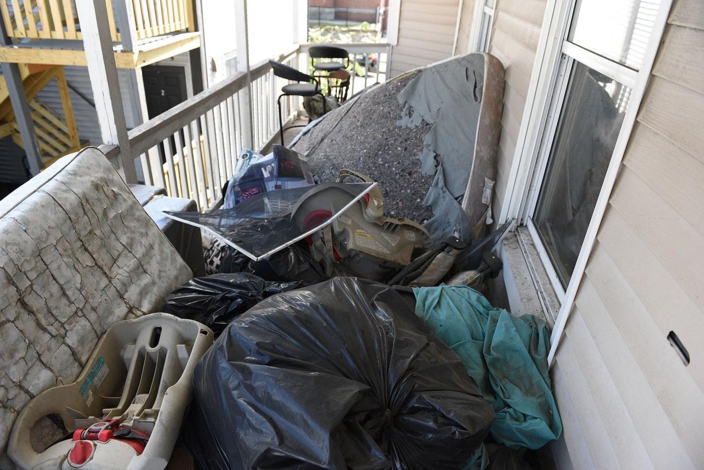 Manchester apartment porch