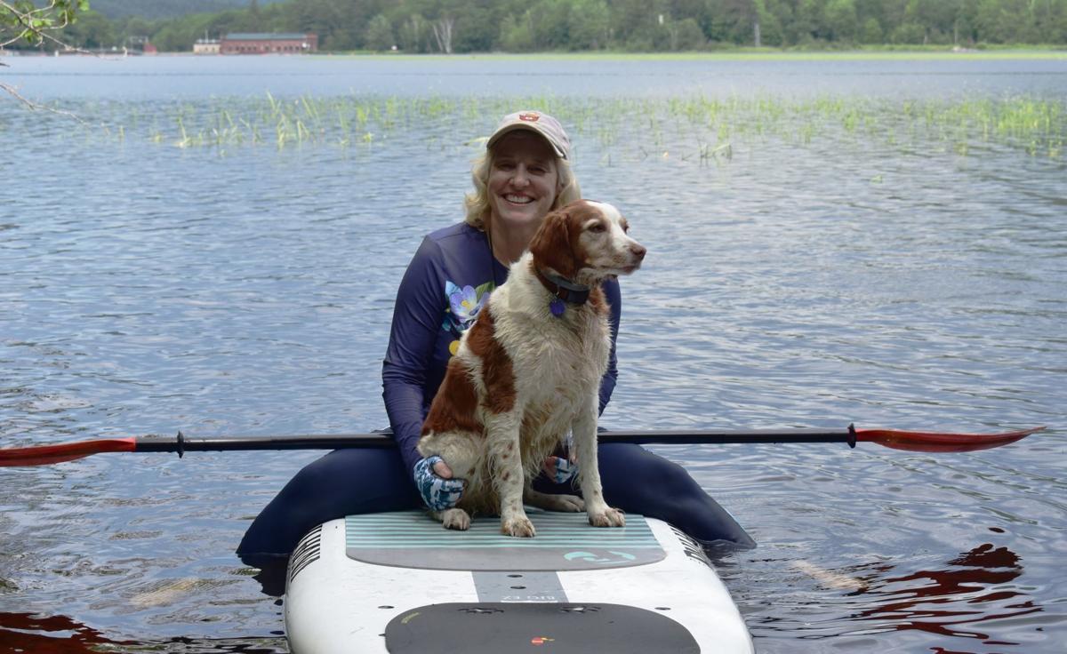 Katie Stuart and dog Mica