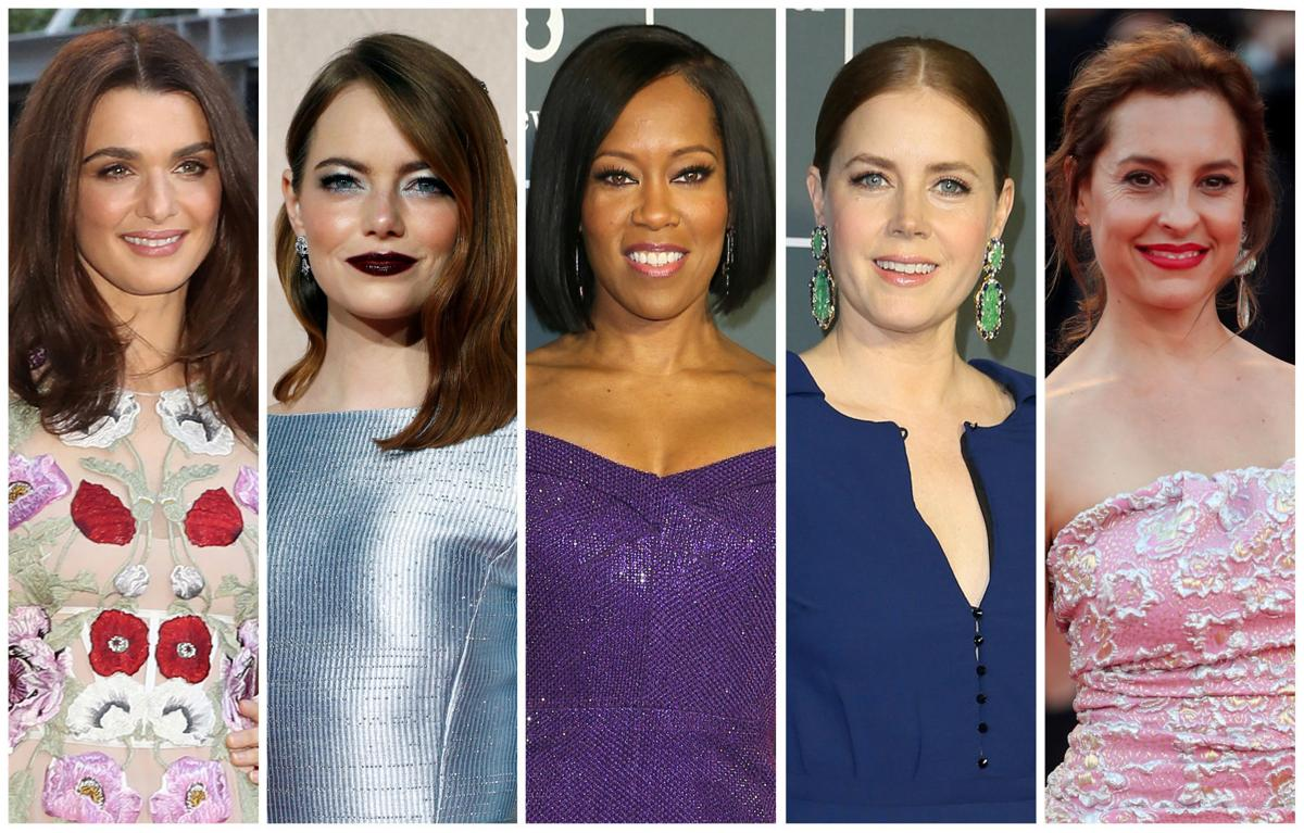 Best supporting actress Oscar nominees for the 91st annual Academy Awards (L-R) Weisz, Stone, King, Adams and de Tavira are seen in a combination of file photos