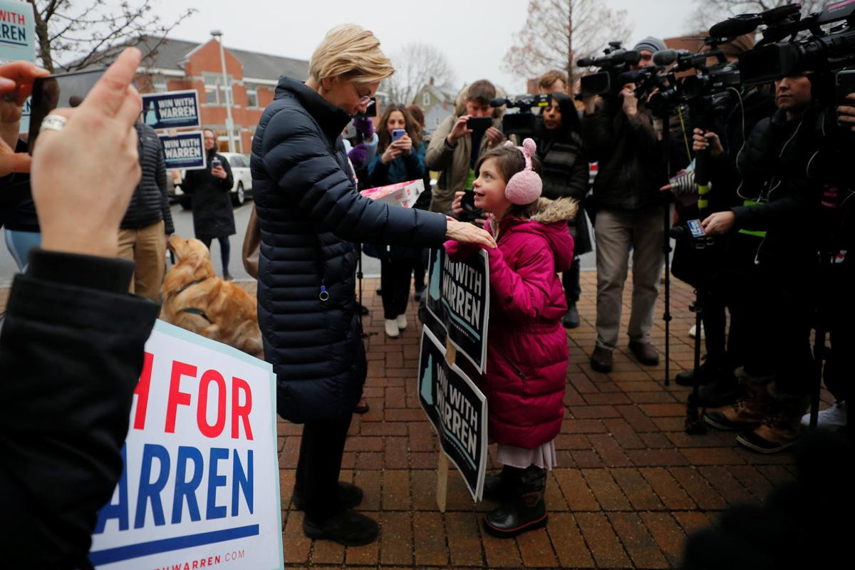 Democratic 2020 U.S. presidential candidate Warren campaigns in Portsmouth
