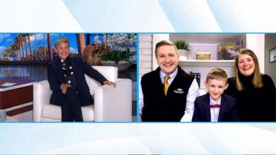 "Bedford family on ""The Ellen DeGeneres Show"""