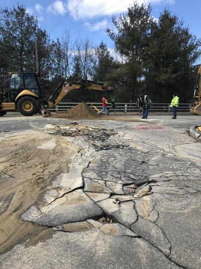 Water main break in Manchester shuts down stretch of Huse Road