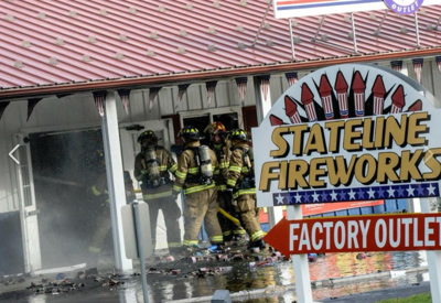 Winchester man, 75, charged with causing massive fire at local fireworks store