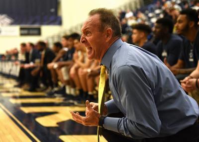 UNH basketball coach Bill Herrion