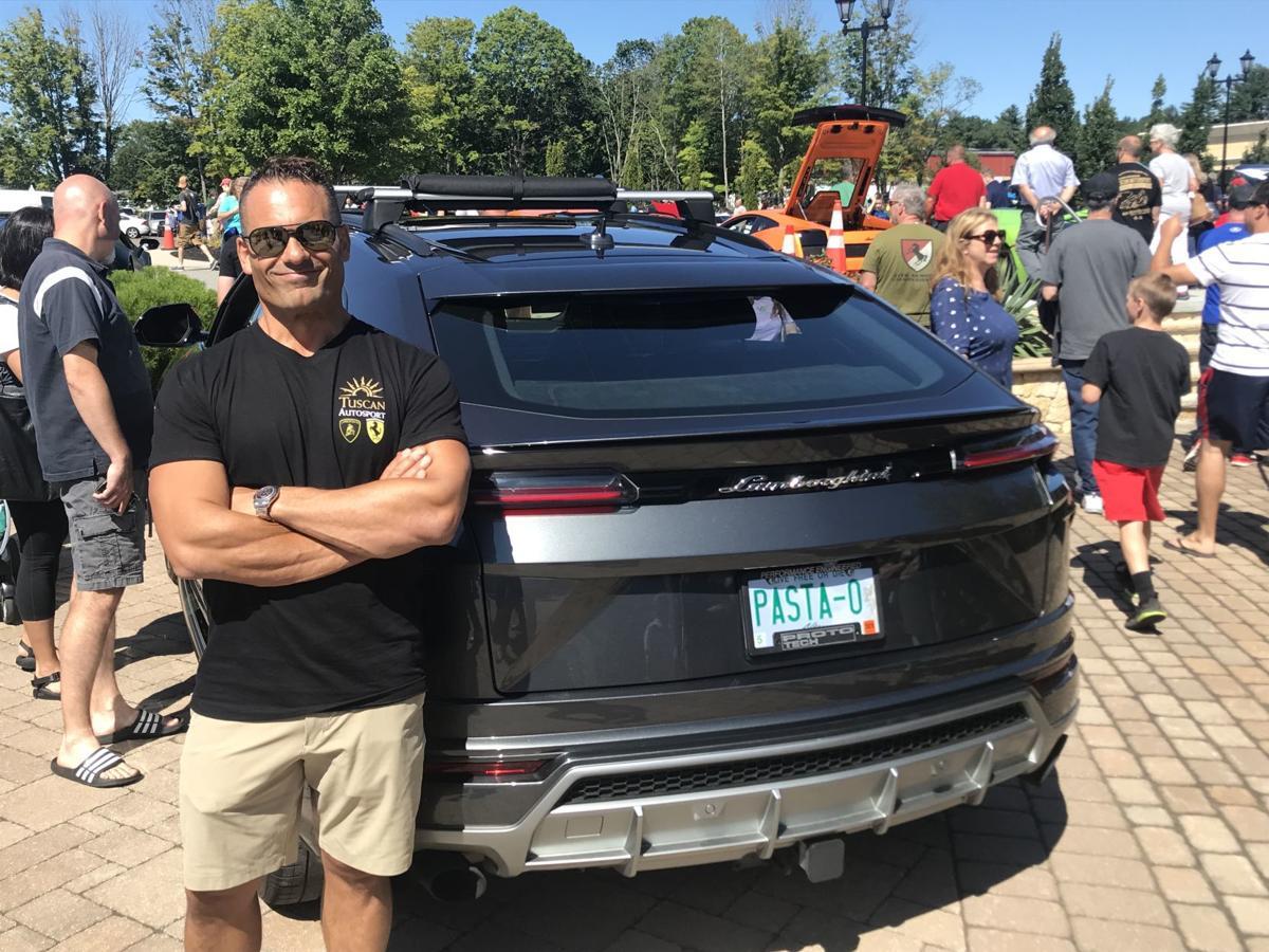 Joe Faro at Lamborghini show