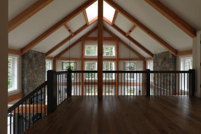 Yankee Barn Homes post and beam interior