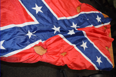 Goffstown burned Confederate flag