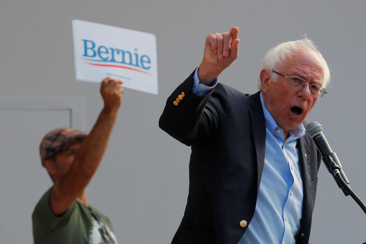 Democratic 2020 U.S. presidential candidate Sanders speaks at a campaign rally in Dover