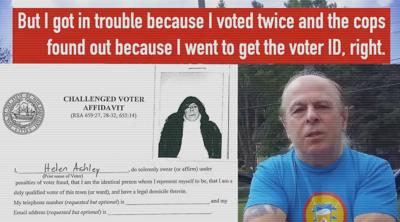 Man charged with voting twice