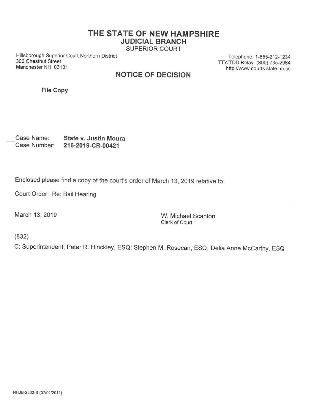 Moura bail order
