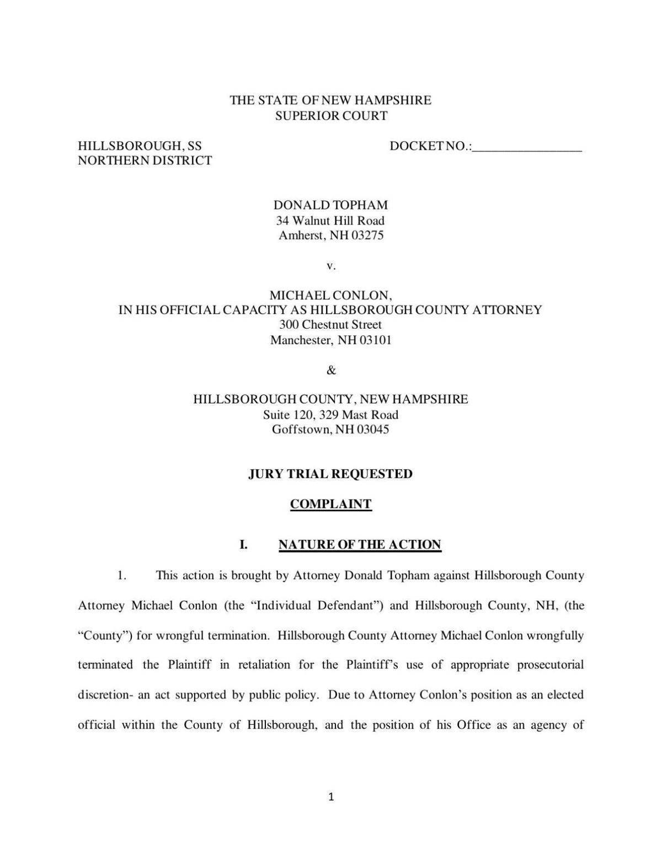 Topham lawsuit