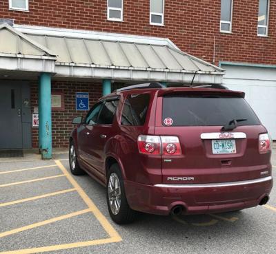 Handicap spot at Rockingham County jail