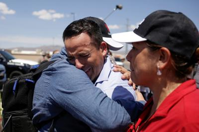 TV news reporter gets emotional at the site of a mass shooting