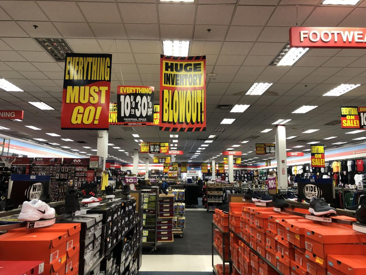 Inside of Modell's features 'blowout' signs