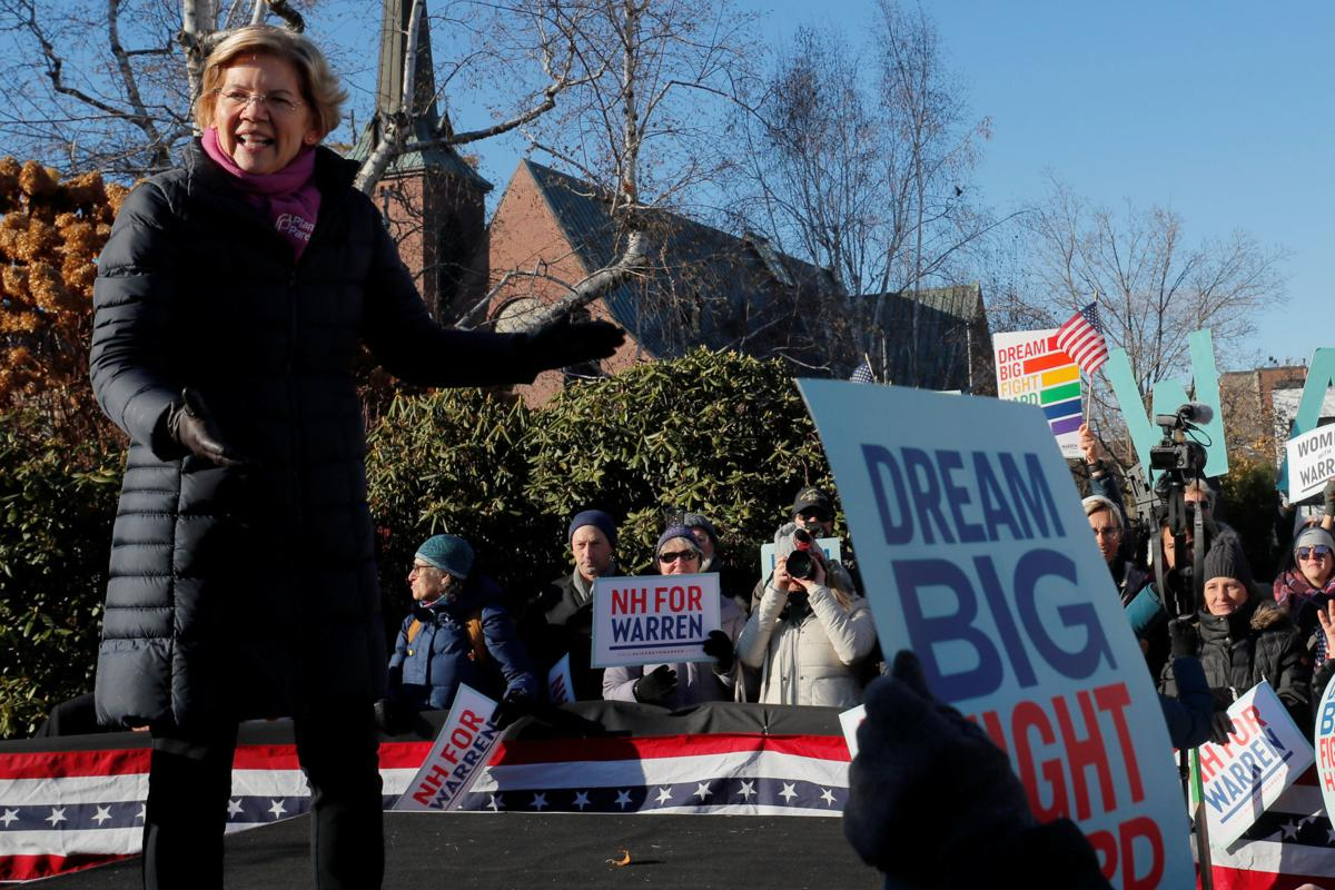 Democratic 2020 U.S. presidential candidate Warren thanks supporters in Concord