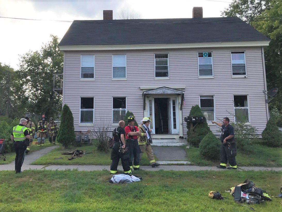 Laconia fire at apartment house