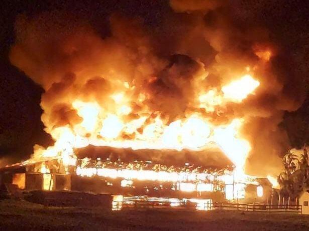 Barn ablaze in stratham