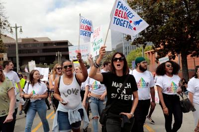 "FILE PHOTO: Demonstrators protest during a national day of action called ""Keep Families Together"" to protest the Trump administration's ""Zero Tolerance"" policy in Los Angeles"