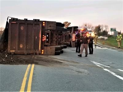 Tractor-trailer rolls and spills cargo exiting Spaulding Turnpike, traffic detoured for hours