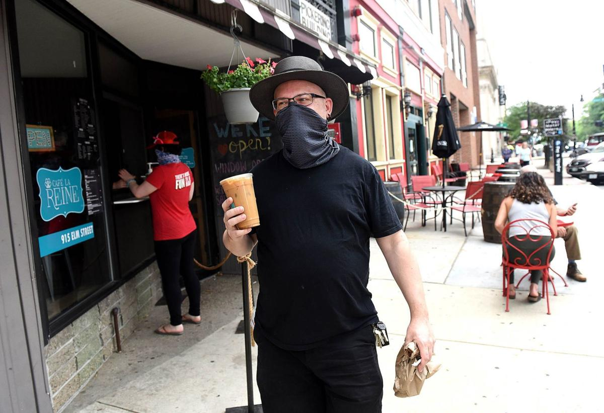 Grabbing an iced coffee