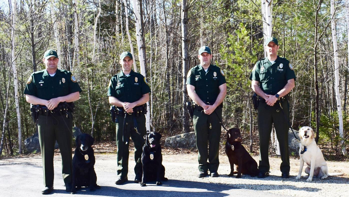 Fish and Game Canine Unit members