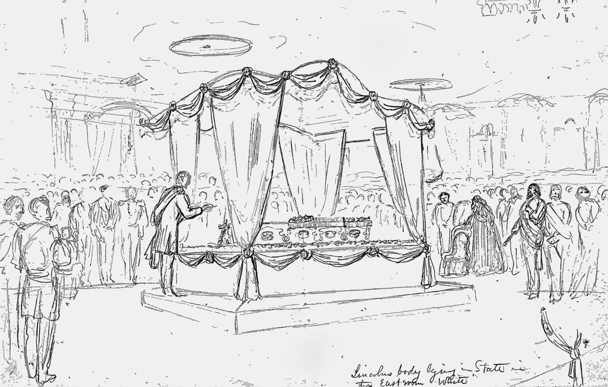 The funeral service for President Abraham Lincoln