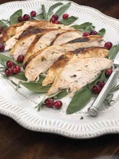 Tandoori spiced turkey
