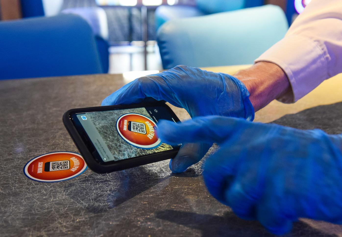 Order food using your phone at Dave & Buster's