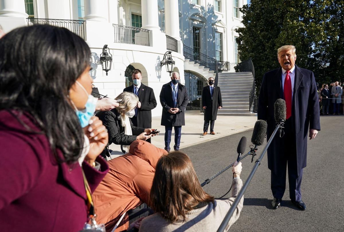 U.S. President Donald Trump departs the White House on travel to Texas, in Washington