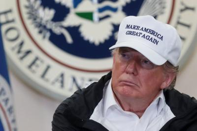 U.S. President Trump participates in a roundtable discussion at the U.S. Border Patrol Station in McAllen, Texas
