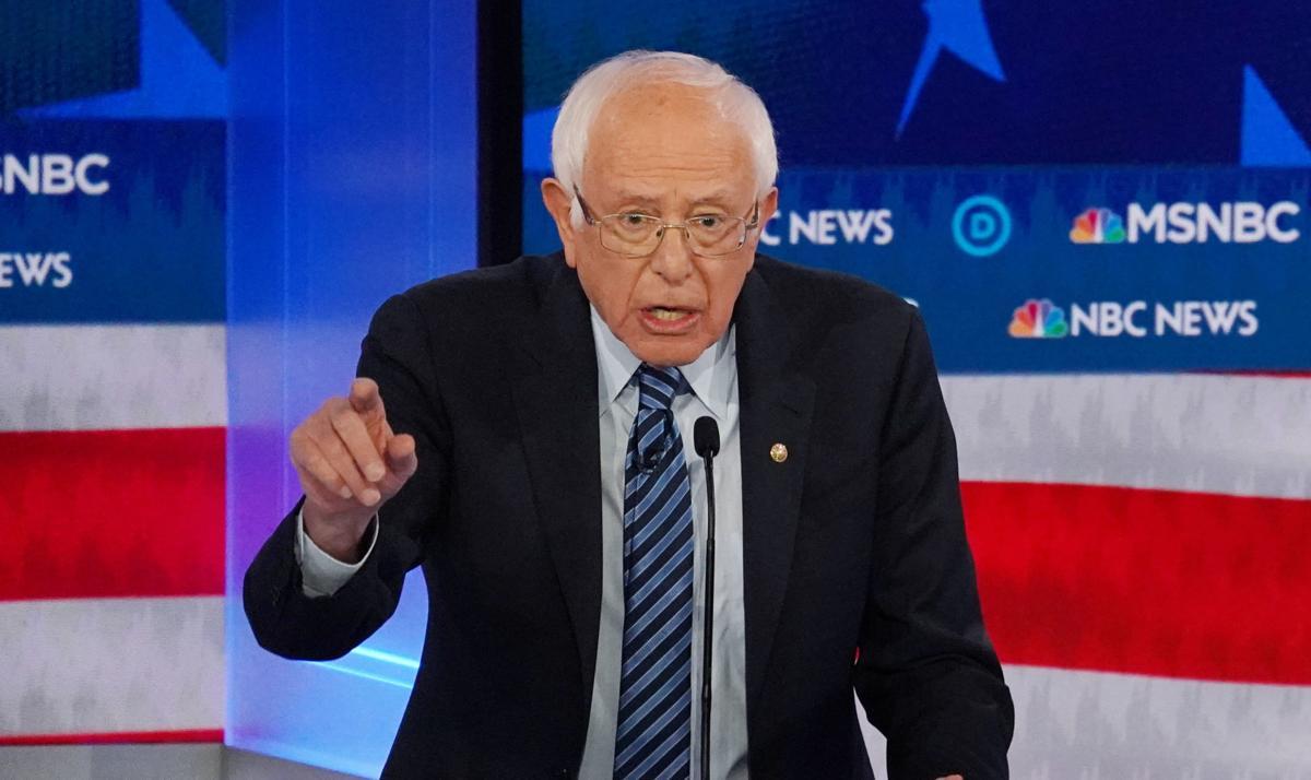 Democratic U.S. presidential candidate Senator Bernie Sanders
