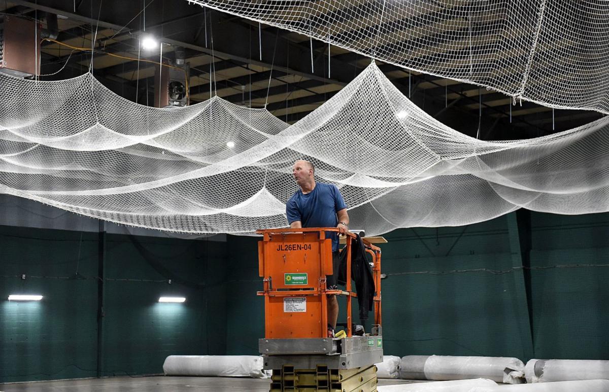 Installing netting