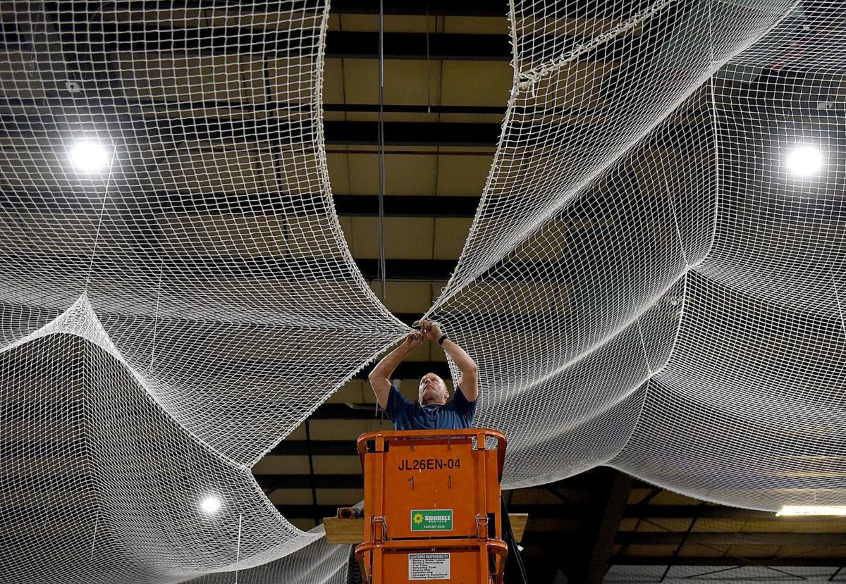 Netting at the Sports Mill