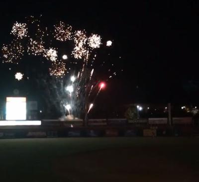 Fisher Cats fireworks