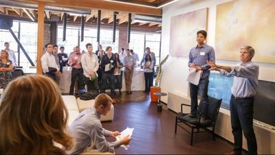 Entrepreneurial center celebrates financial backing
