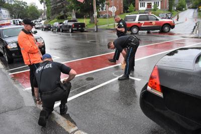 Pedestrian hit in Meredith