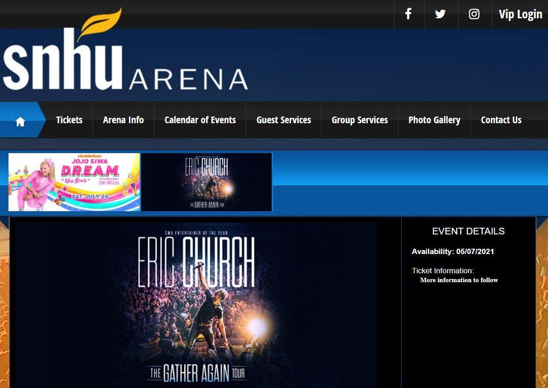 SNHU Arena website