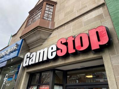 A GameStop store is seen in the Jackson Heights neighborhood of New York City