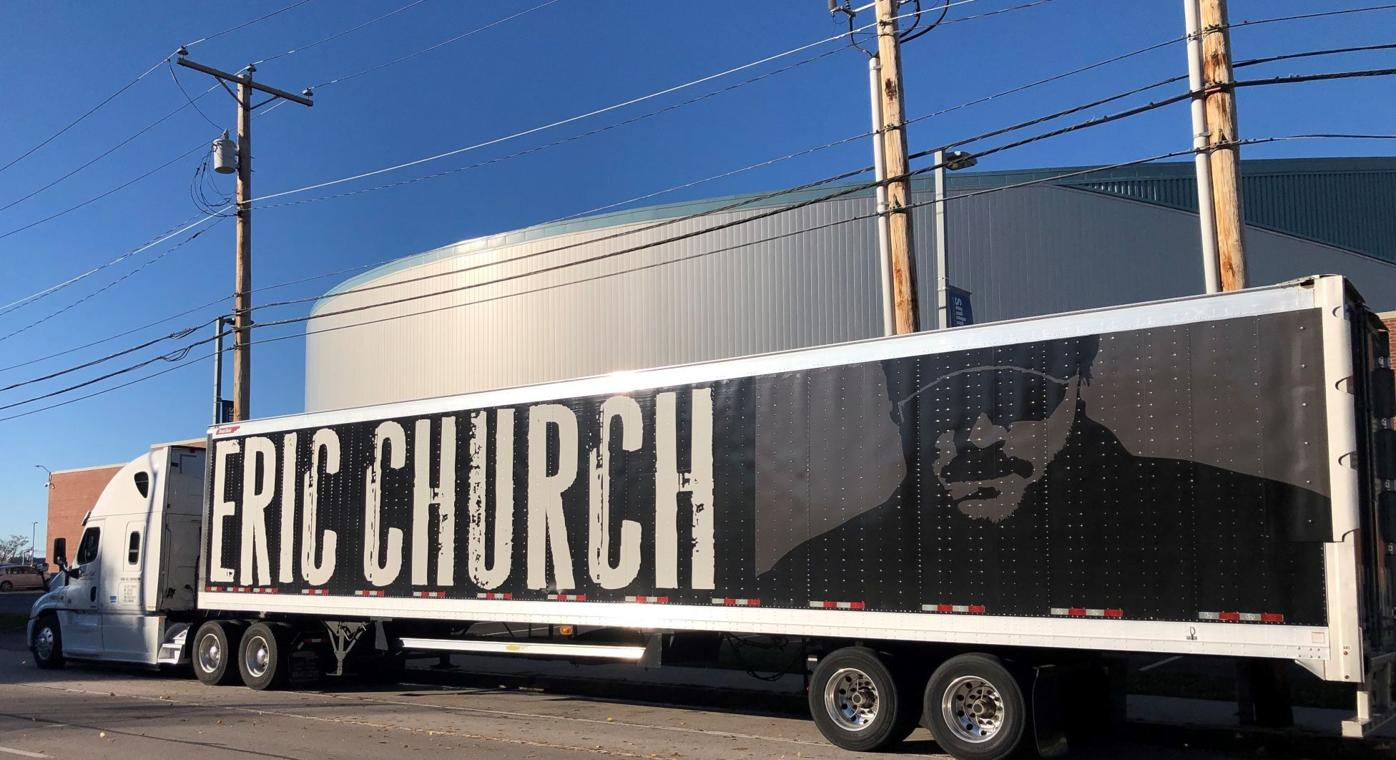 Eric Church truck outside the SNHU Arena