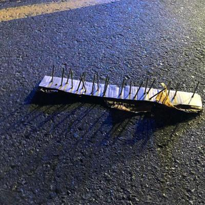 Pelham police looking for whoever planted makeshift spike strips