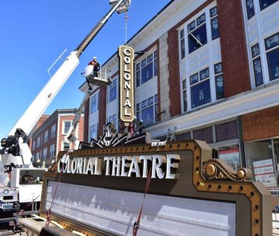New marquee for Laconia's Colonial