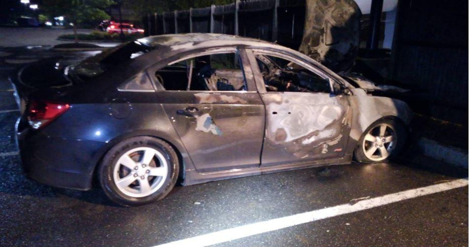 Stolen car found torched in Applebee's parking lot in Dover