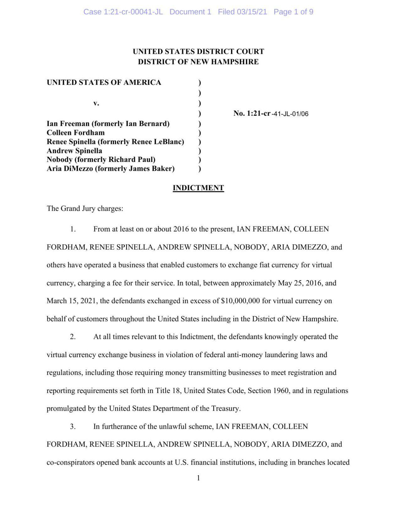 Freeman indictments